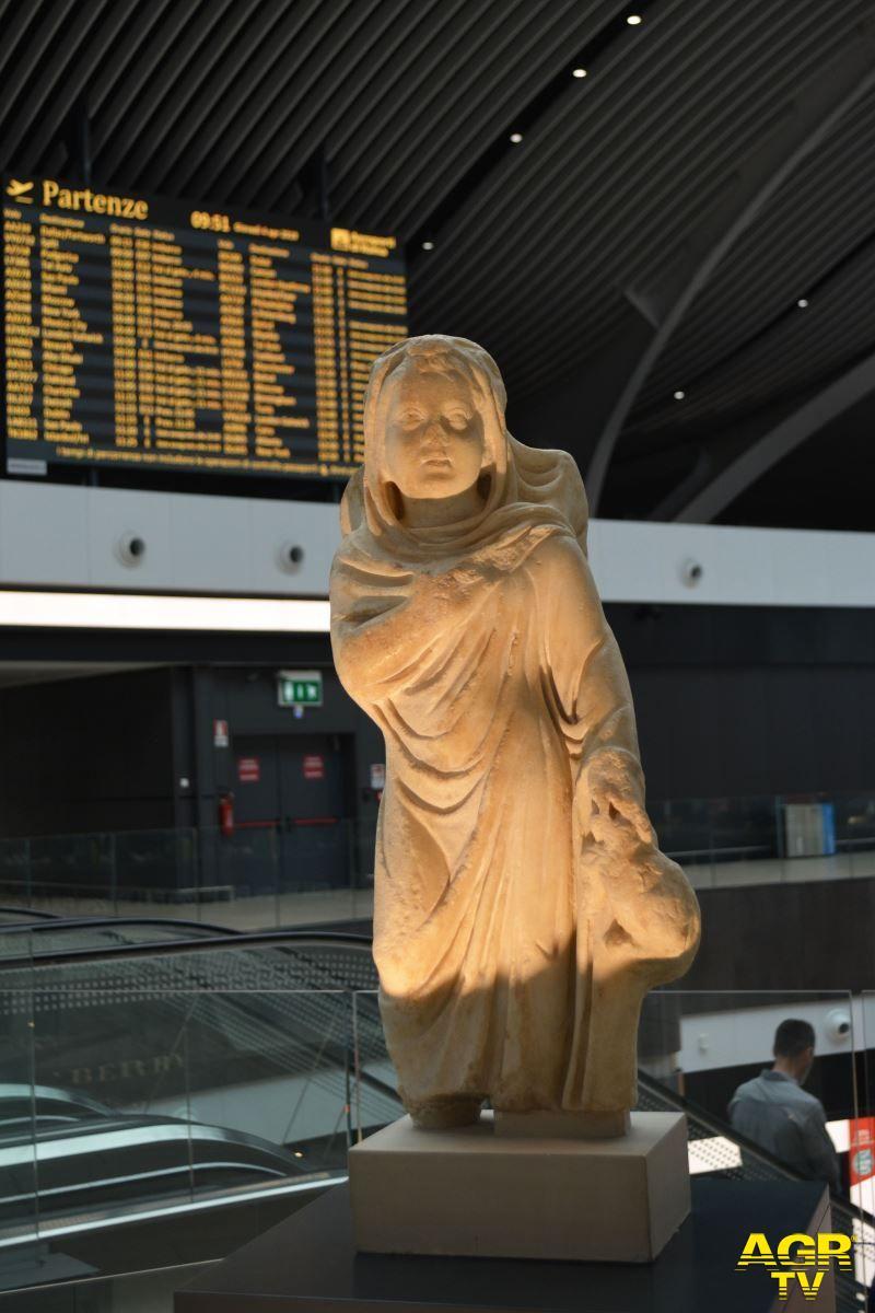 Fiumicino, inaugurata la mostra del parco di Ostia Antica in aeroporto