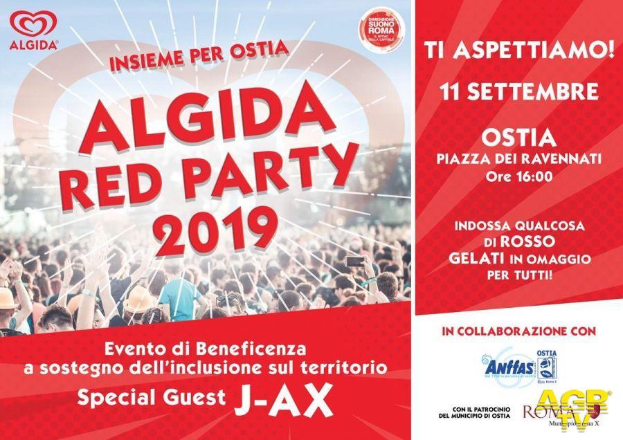 Ostia, Algida red party al pontile con J-Ax