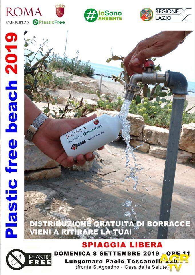 Ostia, 5000 borraccie riutilizzabili distribuite sulle spiagge libere