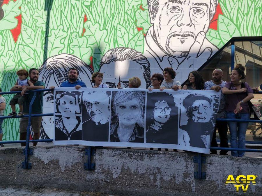 Ostia, murales oscurato, #Noi scrive al Miur