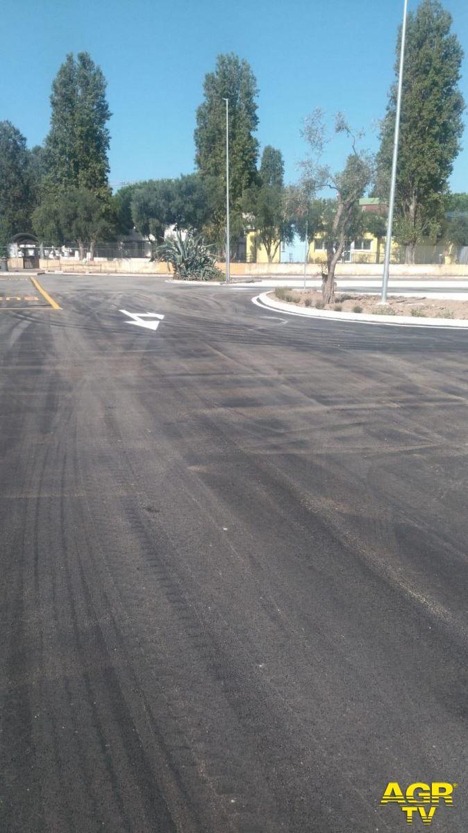 Fiumicino, concluso prima dell'inizio dell'anno scolastico il parcheggio in via Coni Zugna