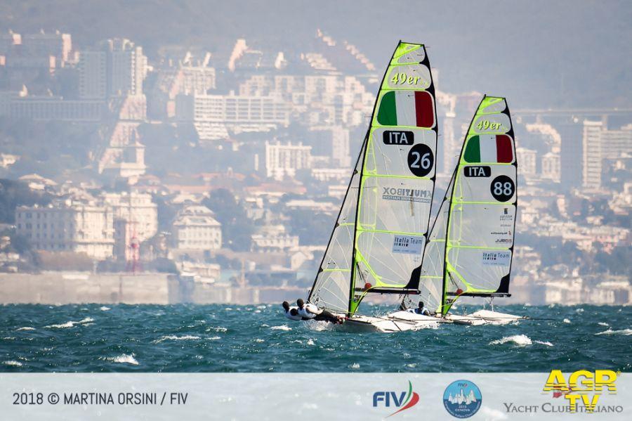 Vela, Campionato italiano classi Olimpiche prime regate