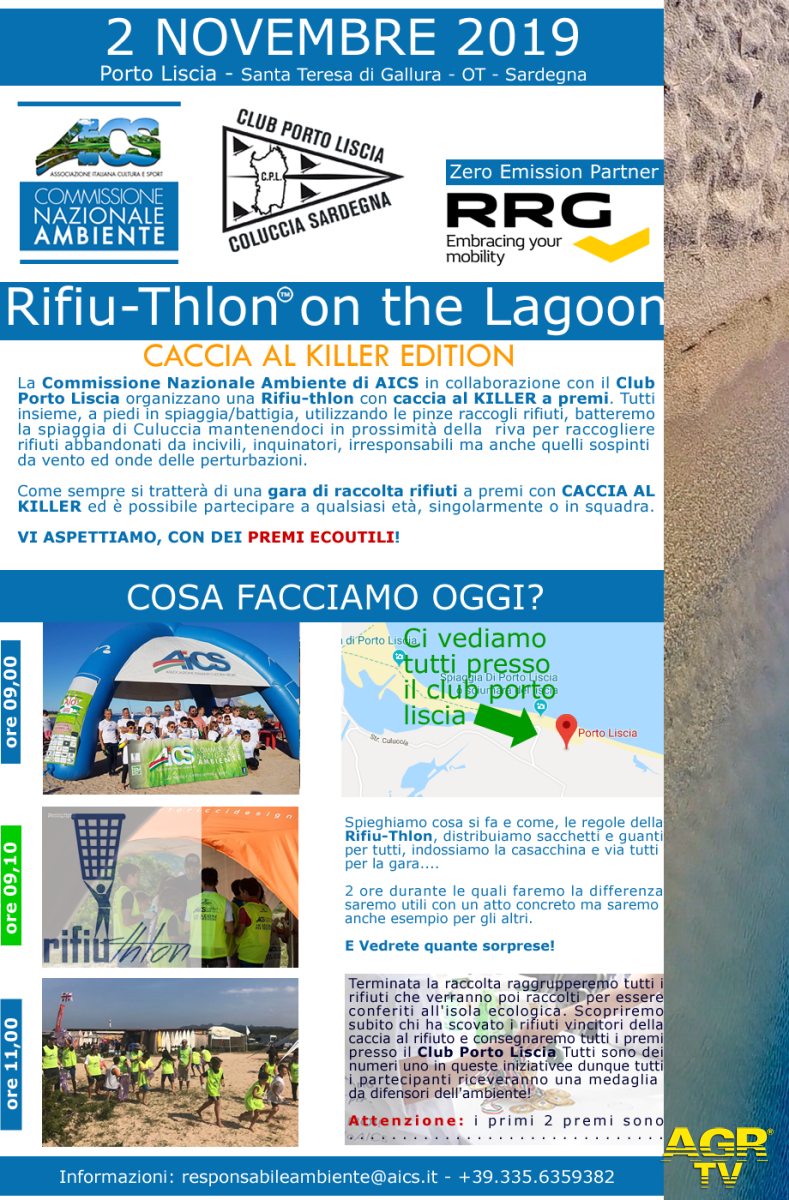 AICS, sport ed ambiente a porto Liscia