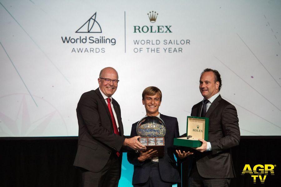 Ostia, il velista Marco Gradoni riceve il Rolex World Sailor of the Year