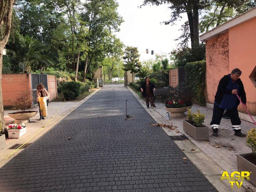 Fiumicino, piante e fiori per il cimitero di via Portuense