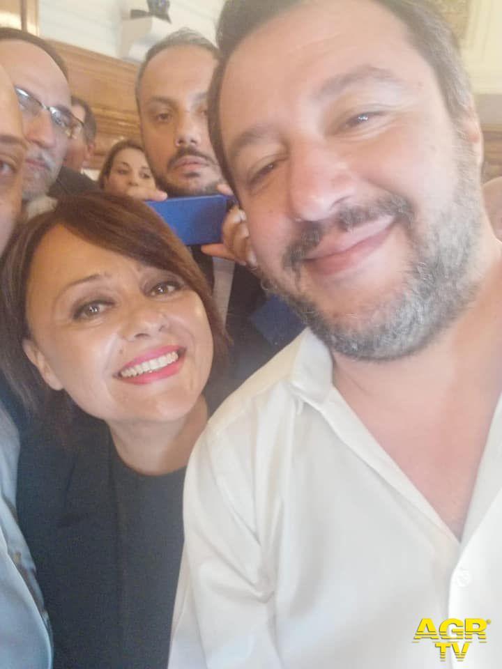 Matteo Salvini a Nuova Ostia: