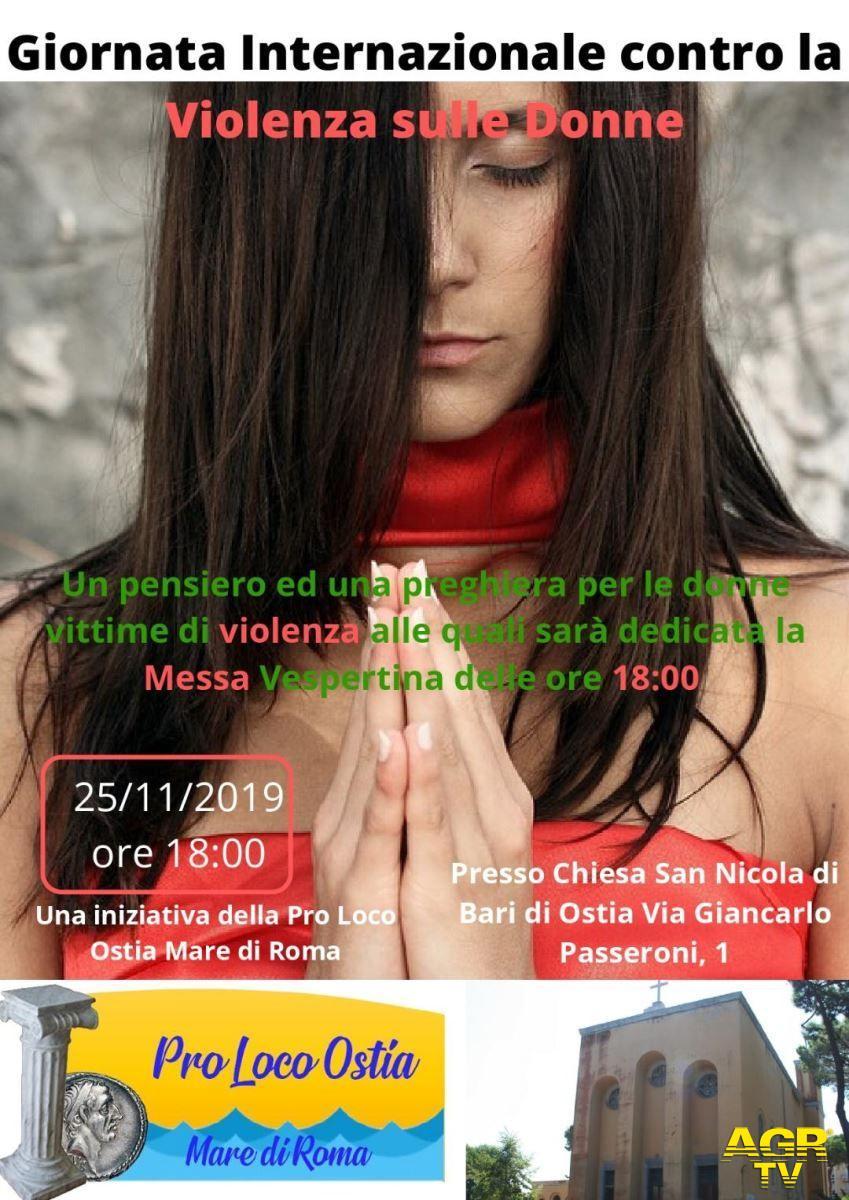 Ostia, una messa in suffragio delle donne vittime di femminicidi