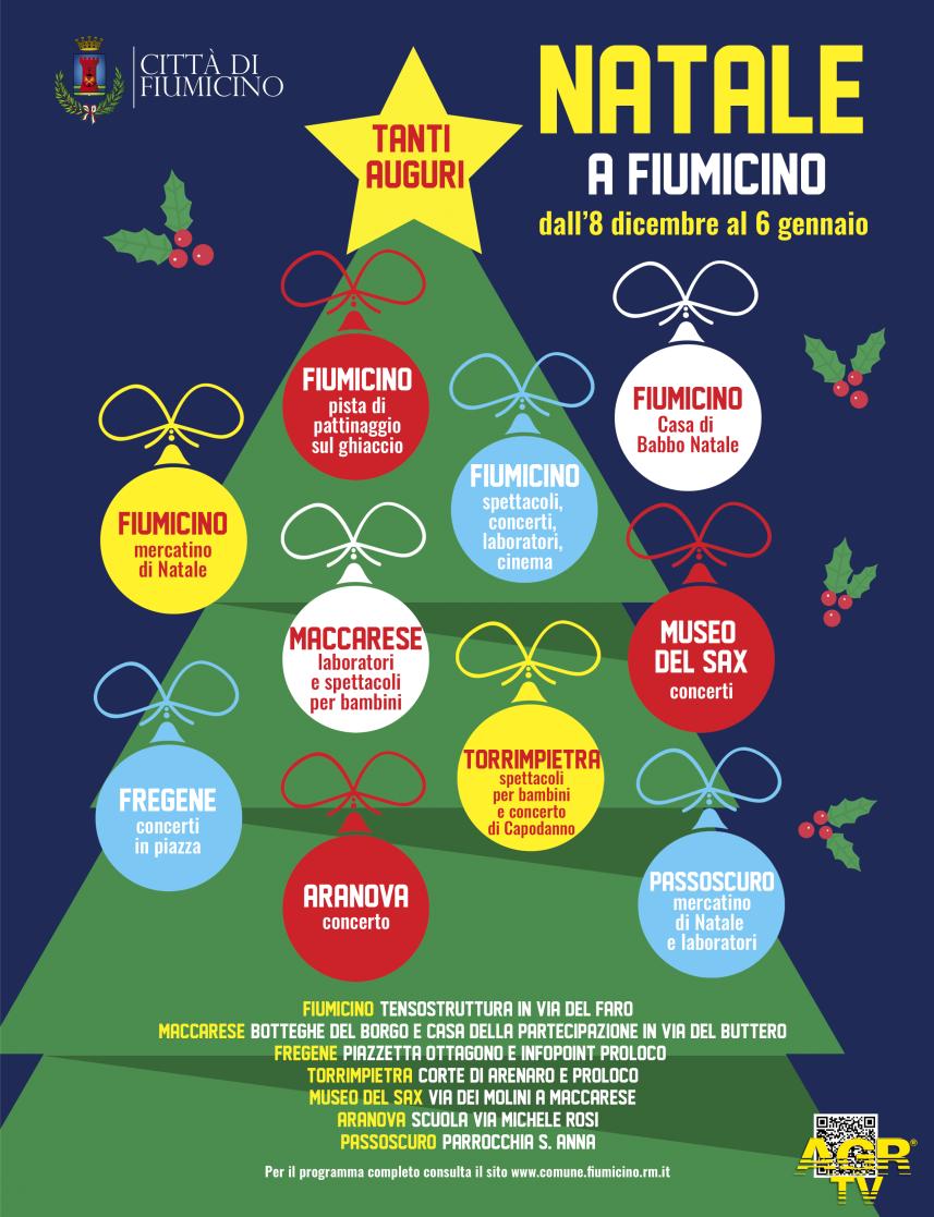 Fiumicino, Natale 2019, eventi in tutto il territorio
