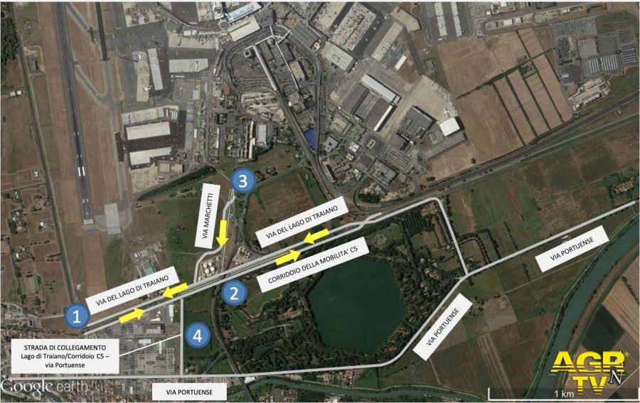Fiumicino, nuova viabilità in vista dei lavori sul viadotto dell'aeroporto