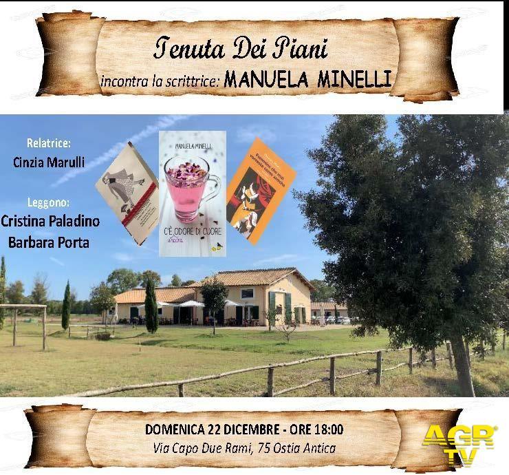 Ostia, incontro con Manuela Minelli alla Tenuta dei Piani