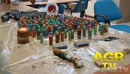 Ostia, trovata borsa contenente 300 cartucce e parti di un fucile
