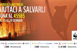 Il WWF attiva un numero solidale per l'emergenza incendi in Australia