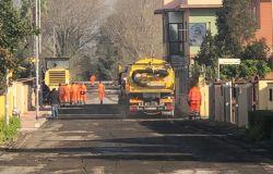 Ostia, nuova pavimentazione stradale in via Paolo Orlando