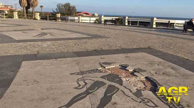 danni mosaico pavimentazione