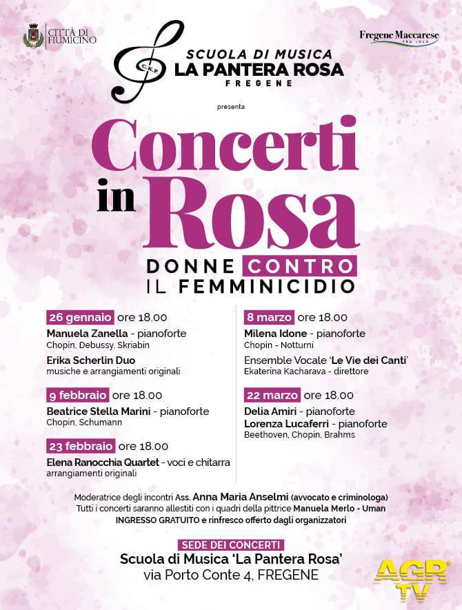 Fregene, concerti In rosa contro il femminicidio