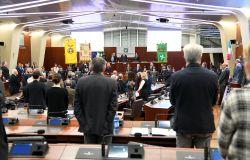 la cerimonia in Aula Consiliare