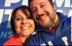 Picca (consigliera X Municipio Lega) con Salvini