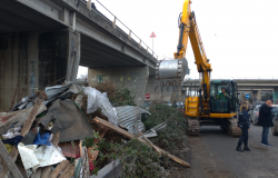 Municipio X, rimosse baracche al viadotto Nuttal