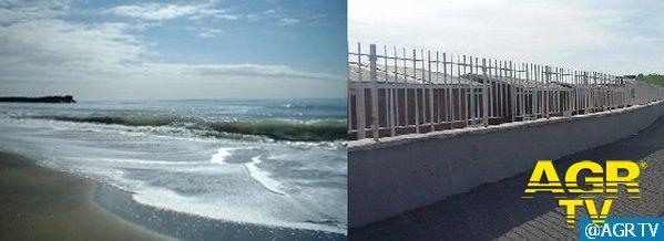 Ostia, mare in gabbia