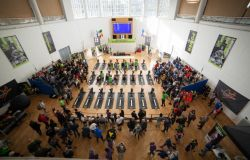 vista dall'alto campionati open indoor