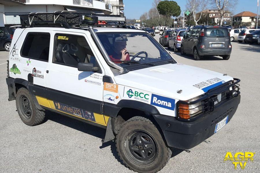 La Fiat Panda 4x4 di Angelo Mattiuzzi, anche questo team al secondo Pandaraid
