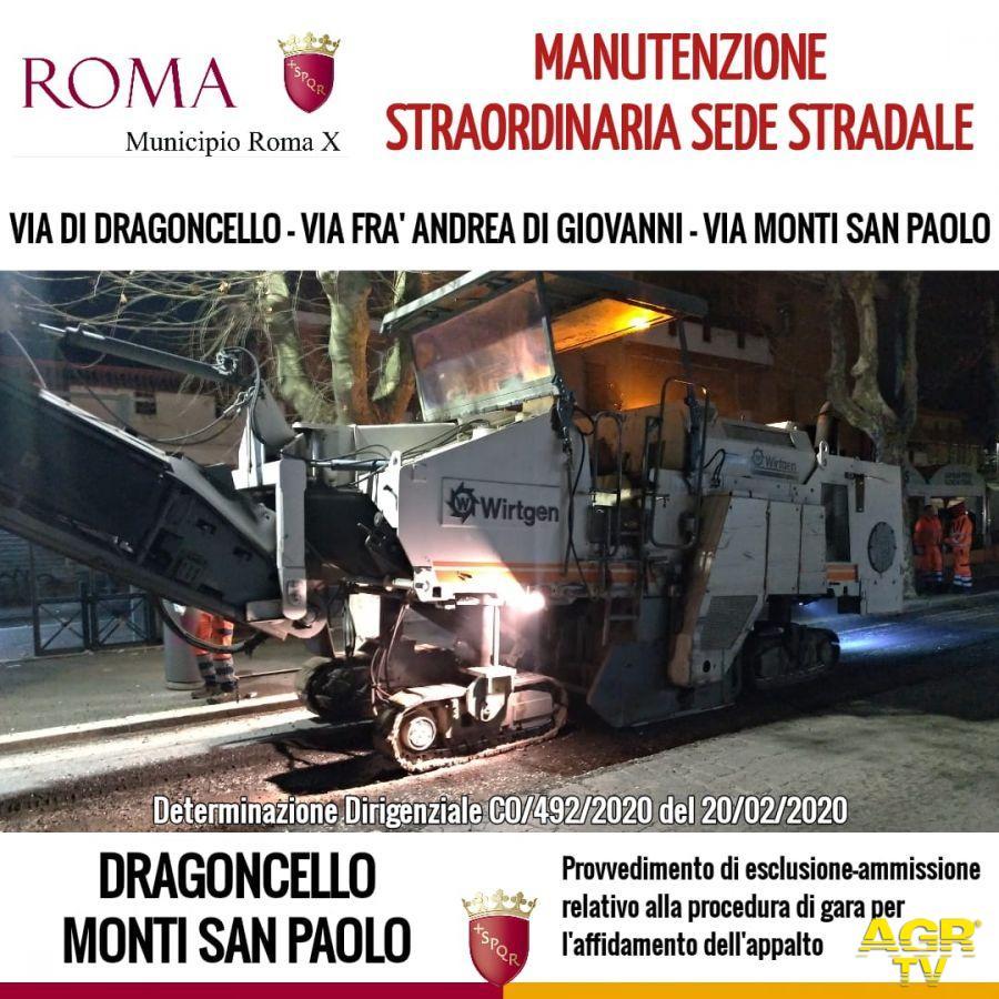 Acilia, X Municipio Lavori di manutenzione sede stradale