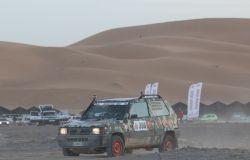 Una delle vetture del Pandaraid a Merzouga