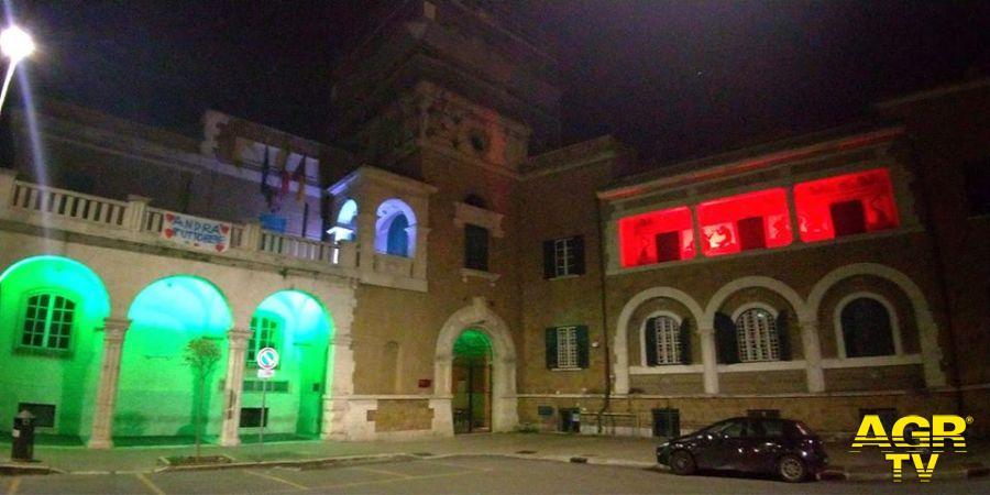 Municipio X bianco rosso e verde