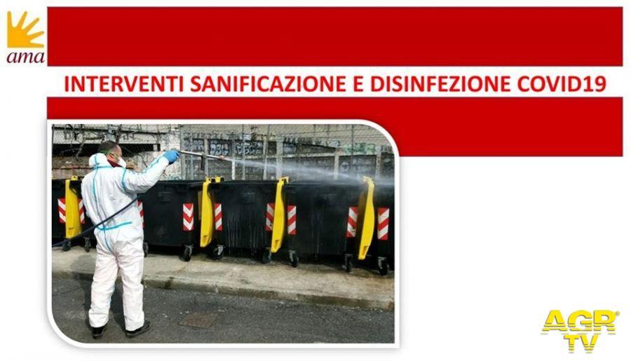 Municipio X, pulizia e sanificazione delle strade, operazione in corso