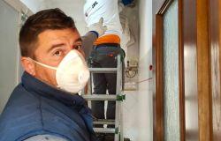 Fiumicino, operai al lavoro alle case poplari Ater