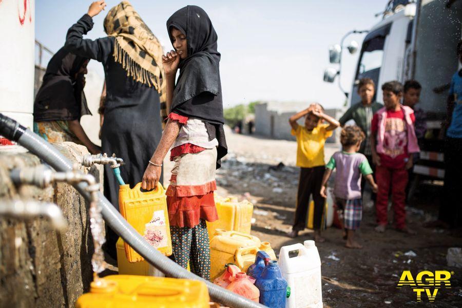 Yemen, emergenza idrica per milioni di persone