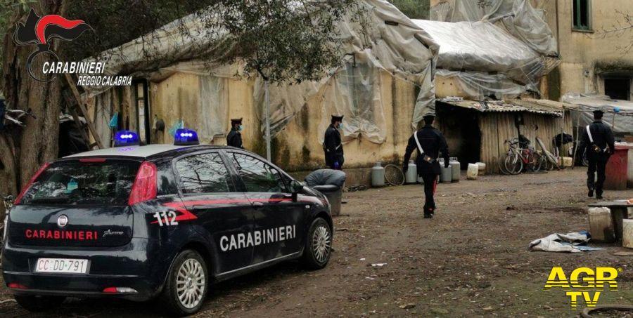 carabinieri baraccopoli Taurianova