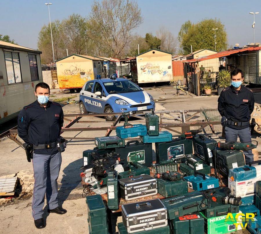 Trapani elettrici, frese e materiali edili, scoperto il deposito della mala