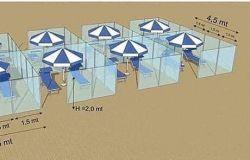 distanziamenti spiaggia modello proposto Nuova Neon Group