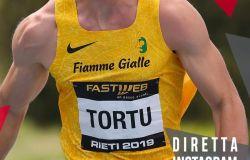 Romaostia, per gli allenamenti online, tocca al velocista Filippo Tortu