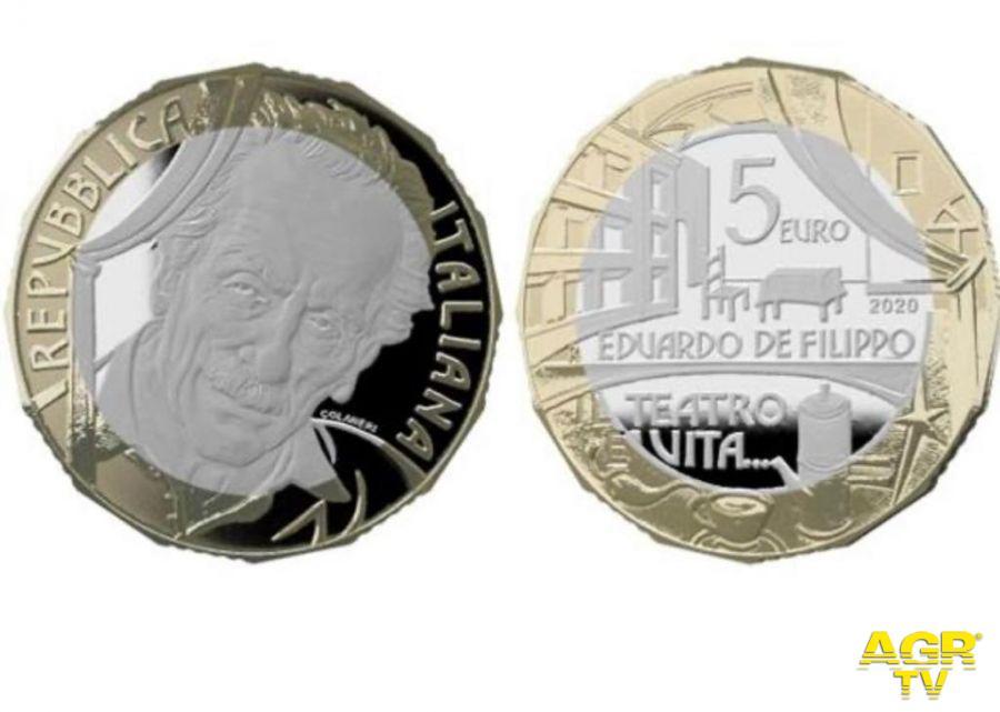 Edoardo Di Filippo moneta poligrafico
