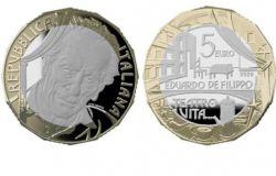Omaggio al teatro napoletano, coniata la moneta in ricordo di Eduardo De Filippo