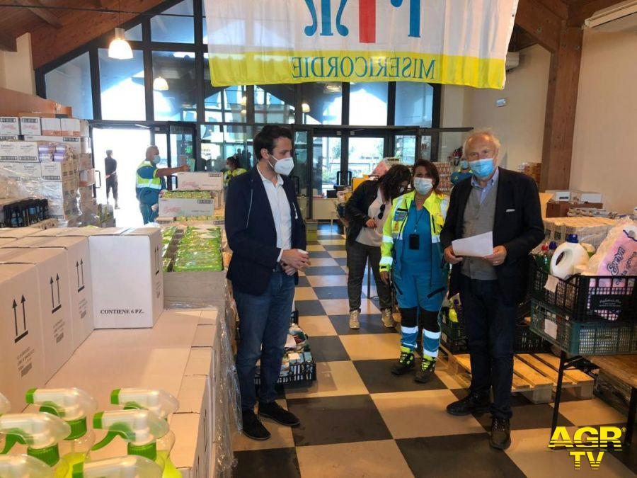 Il nuovo centro operativo con il sindaco Montino