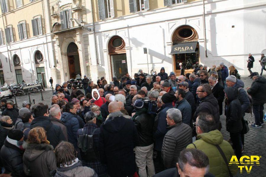 manifestazione dei balneari davanti Montecitorio
