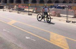 in bici a Roma