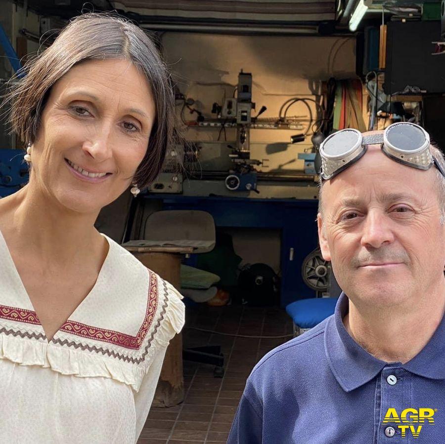 La giornalista di Passion Italy con il maestro Muccino
