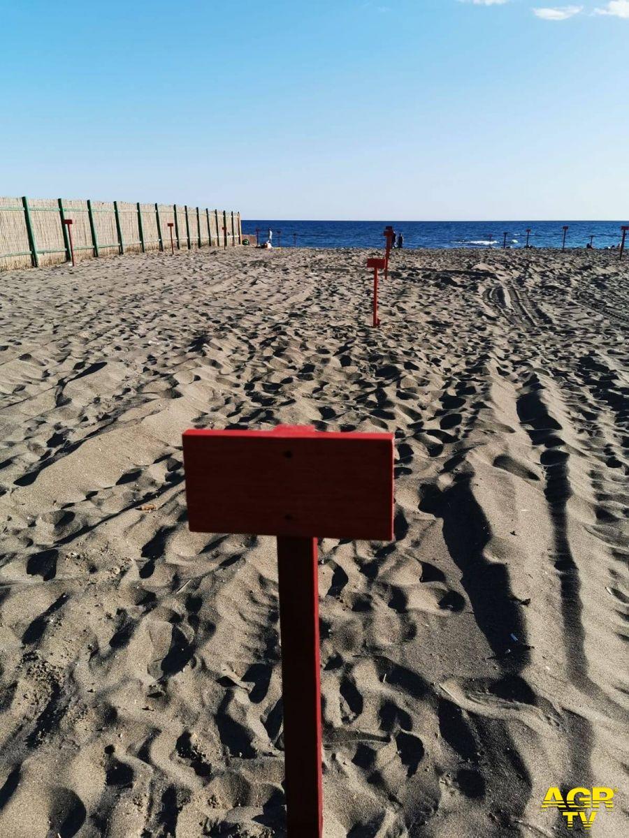 paline distanza in spiaggia