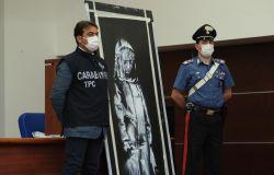 SANT'OMERO (TE), ritrovato un dipinto dell'artista BANKSY