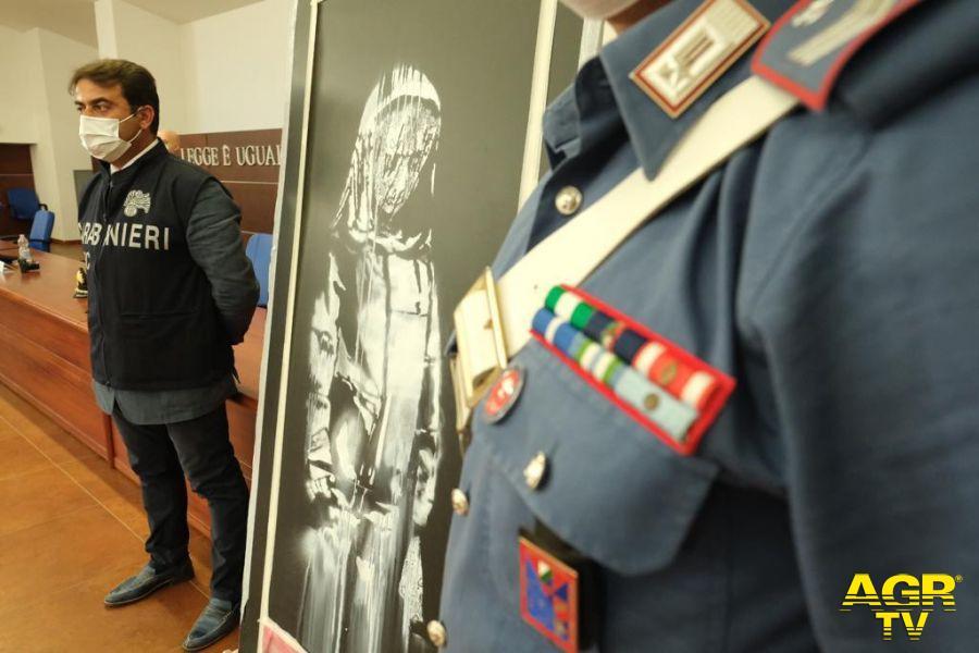 SANT'OMERO (TE), ritrovato un dipinto dell'artista BANKSY trafugato dal teatro BATACLAN di PARIGI