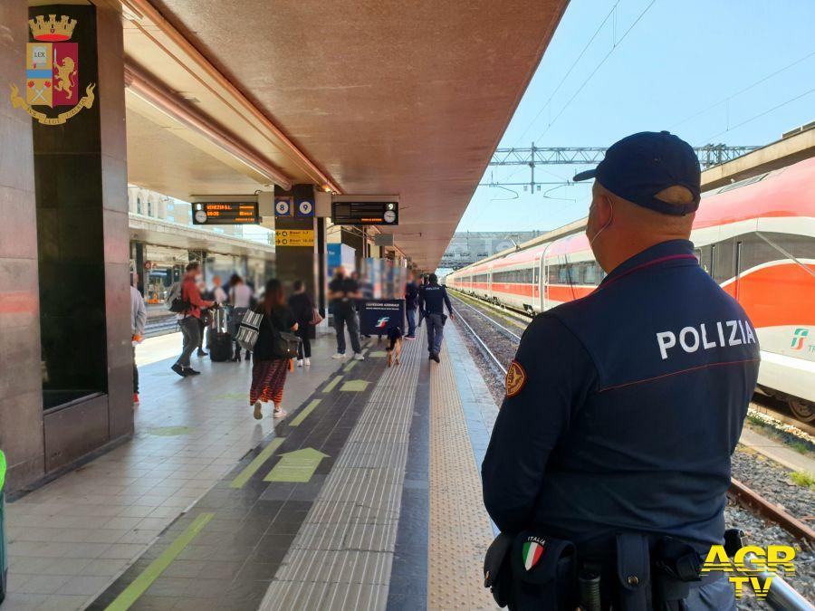 Roma: attività settimanale della Polizia di Stato nelle stazioni del Lazio