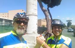 Missione compiuta...sono rientrati i ciclisti di Ostia, vidi...By Bici