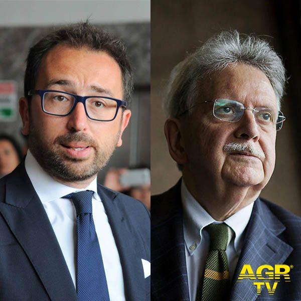 Ministro della Giustizia Alfonso Bonafede e il Garante Nazionale dei diritti delle persone detenute o private della libertà personale,  Mauro Palma