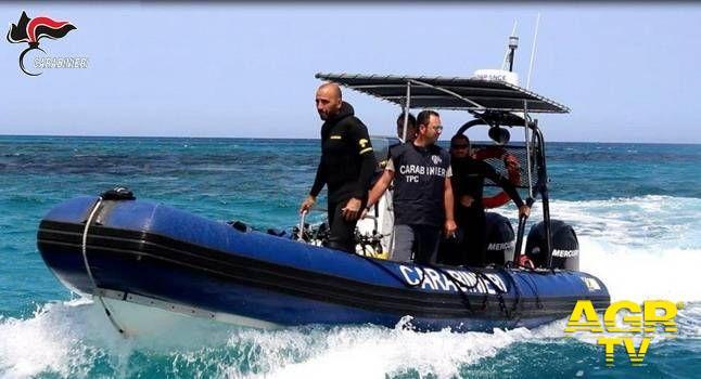 Carabinieri e Soprintendenza recuperano in mare preziosi reperti archeologici