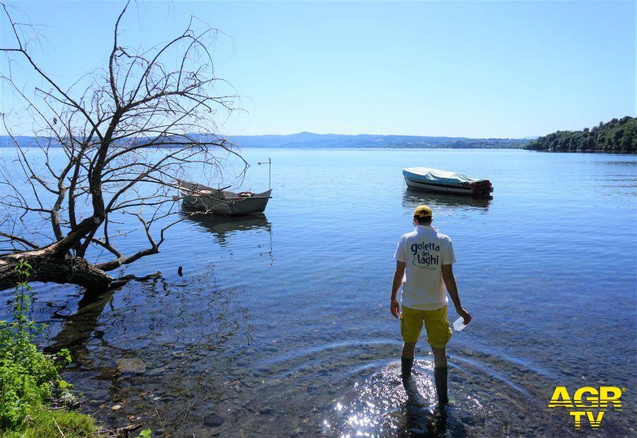 monitoraggio di Goletta dei Laghi di Legambiente sui laghi laziali
