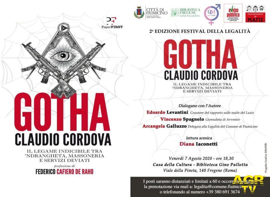 Festival della legalità, venerdì a Fregene incontro con Claudio Cordova